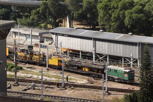 Works train shunting around Kowloon Bay depot