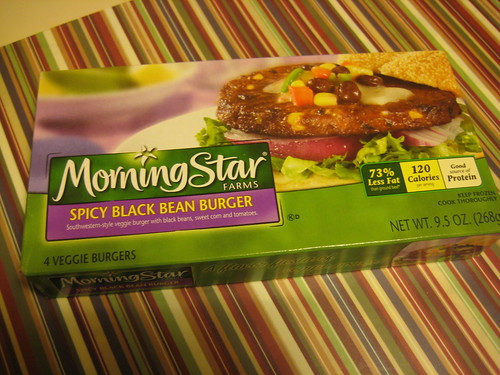 Morningstar black bean burger