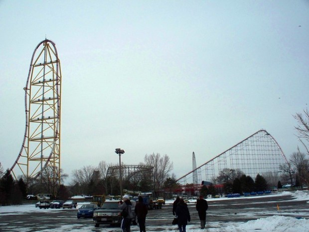 Cedar Point - Off-Season Top Thrill Dragster and Magnum XL-200