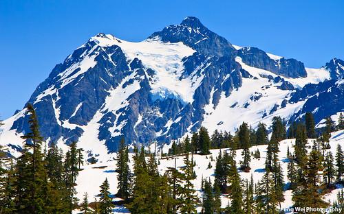 Snow Covered Peak, Mount Baker