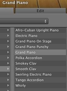GarageBand '11 - Pianos and Keyboards