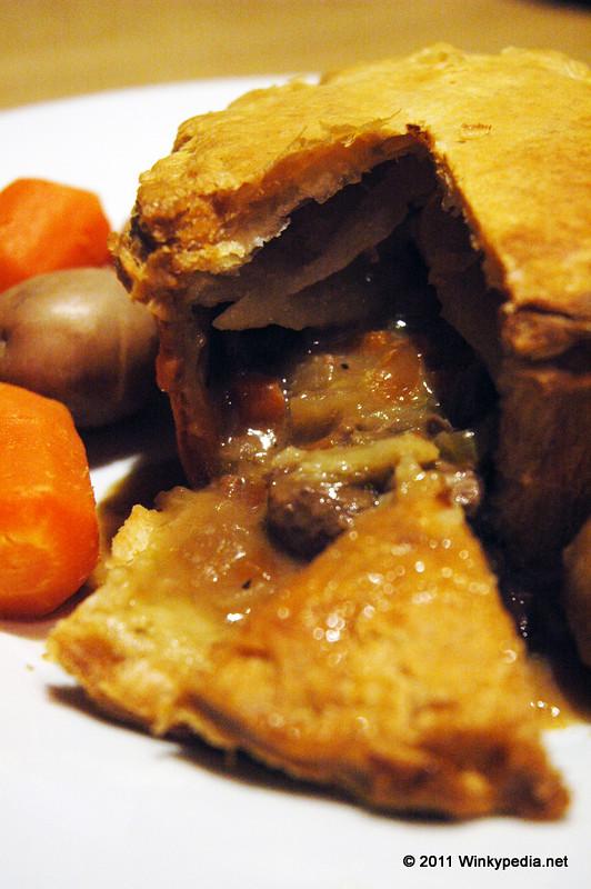 Heston Blumenthal's steak, ale and kombu pie