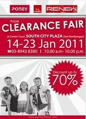 Poney Clearance Fair 14 - 23 Jan 2011