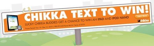 Chikka Text to Win Raffle iPad Promo