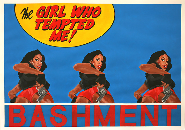Bashment, Acrylic on Paper, 100cm x 70cm by Robin Clare
