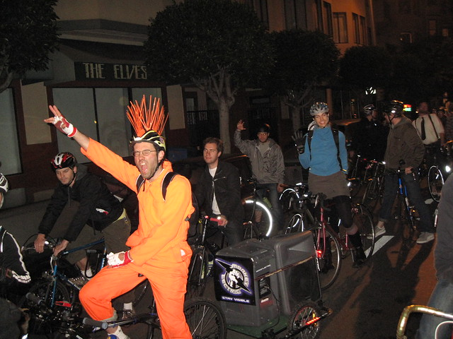 The Partys test ride. Mobile music and fun to be expected. Photo: Bikes and the City