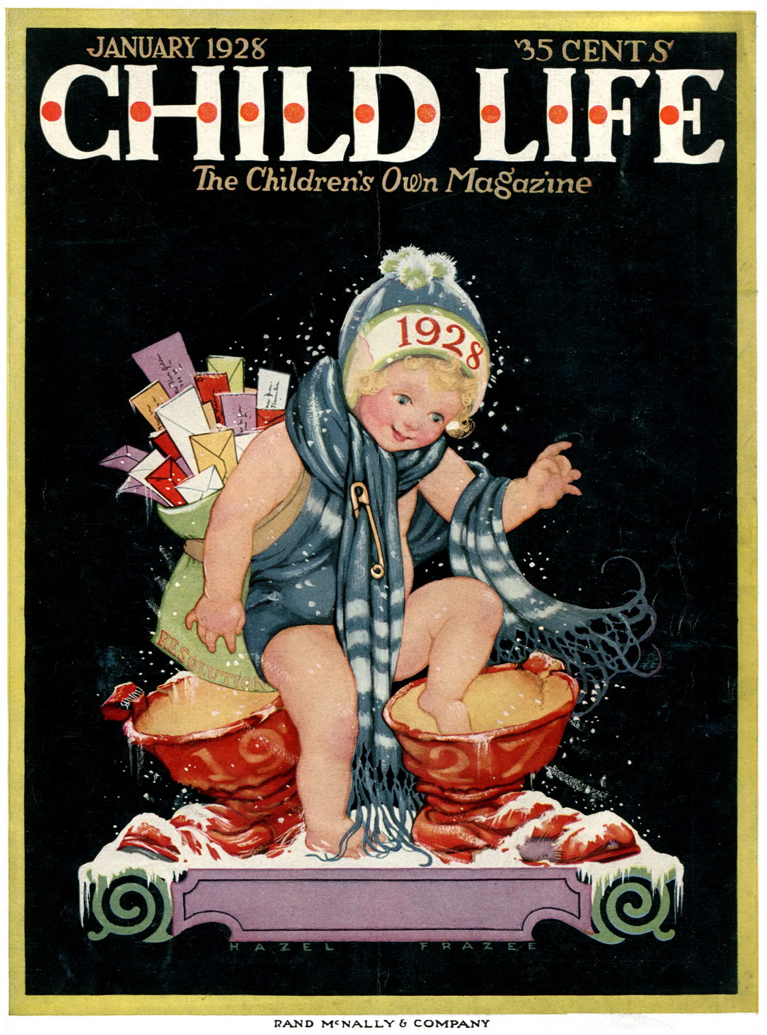 Child Life #1 - Cover (Jan 1928)