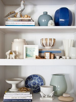 shelf vignette