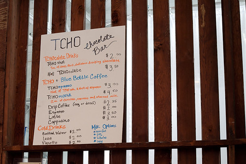 TCHO cafe menu
