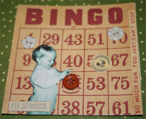 """Bingo! 4"""" x 4"""" Collage Card"""