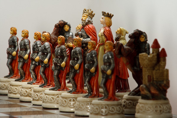 The red king marshals his forces for battle.