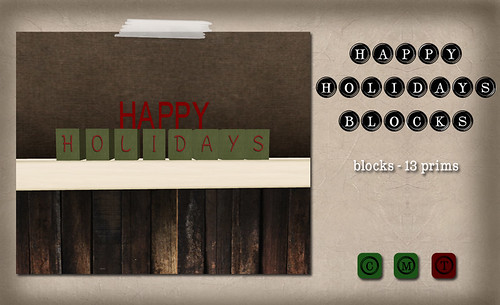 Barcode - Happy Holidays Blocks