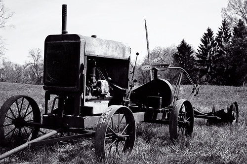 old unused tractor