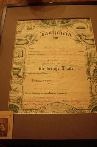 my great grandma's birth certificate