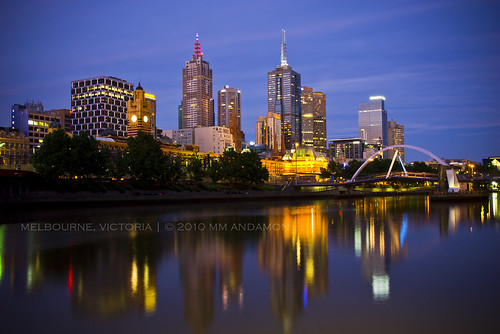 Summer dusk over Melbourne