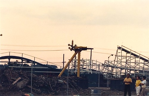 Paragon Park 1985 - Demolition of Roller Coaster