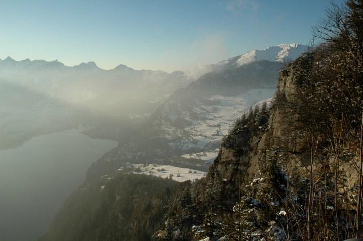Switzerland view from Amden down to Walensee