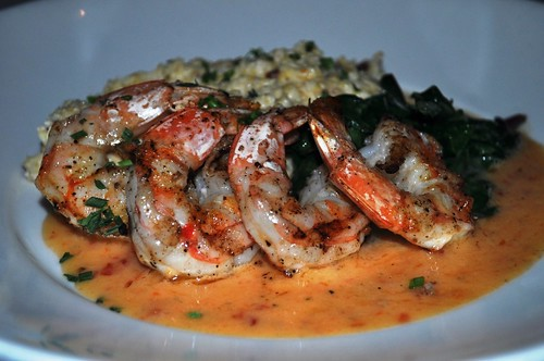 Shrimp and Grits at the Perfect Caper, Punta Gorda, Fla.