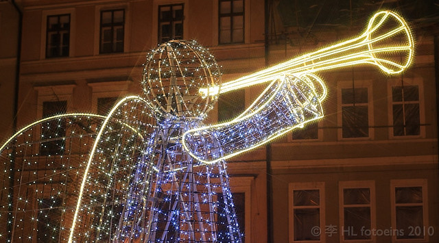 Light angel, Old Town Square, Prague
