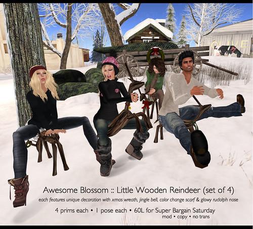 Little Wooden Reindeer for SBS