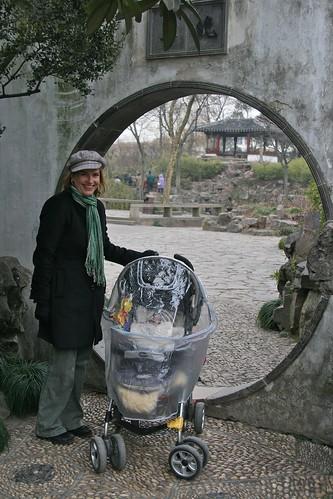 Same round gateway in winter