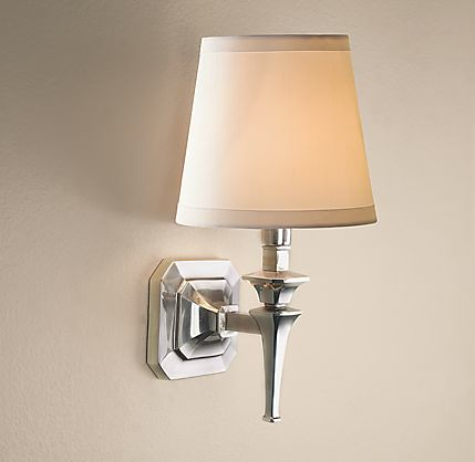 lighting, restoration hardware, riley sconce, $155