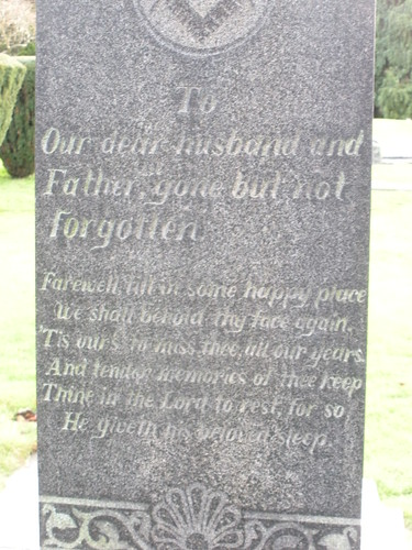 Foster family headstone
