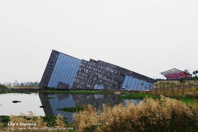 外觀很獨特的蘭陽博物館。