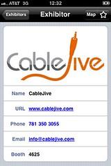 CableJive CES iPhone App