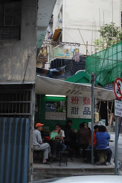 Restaurante callejero en la zona de Mid-Levels