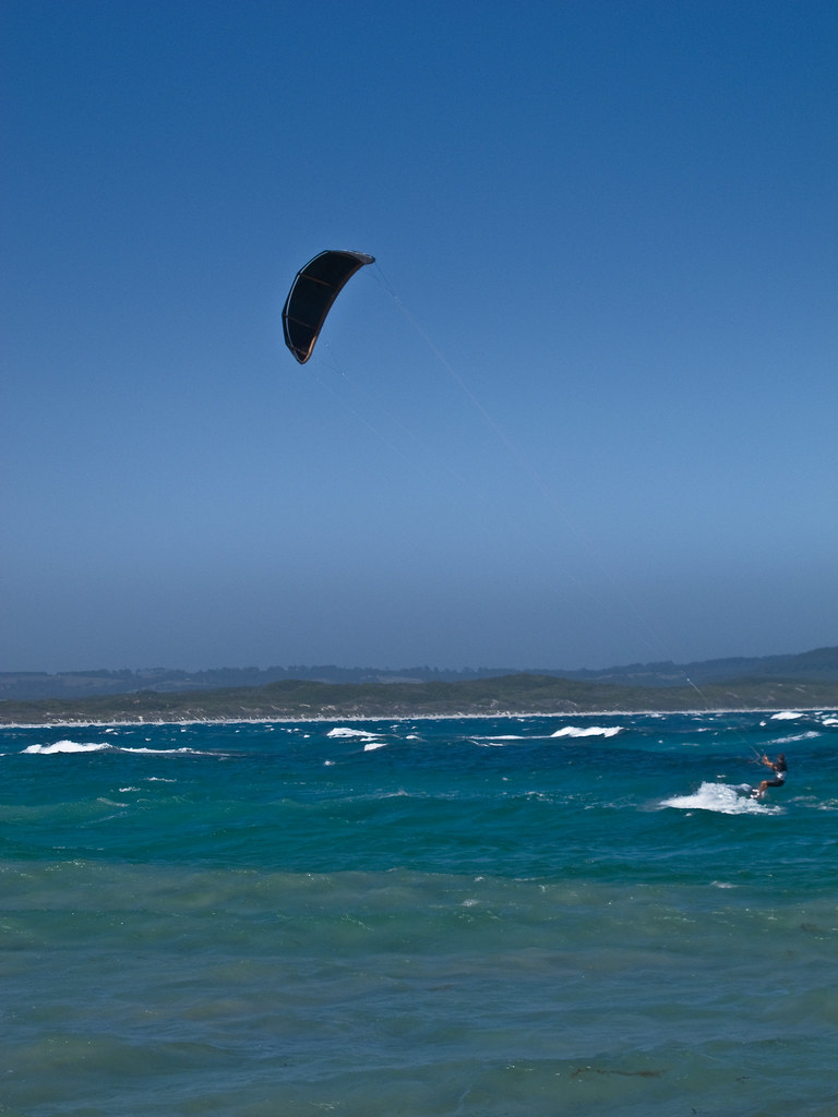 Kite surfer at Parry Beach