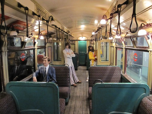 District Line Q Stock interior, London Transport Museum