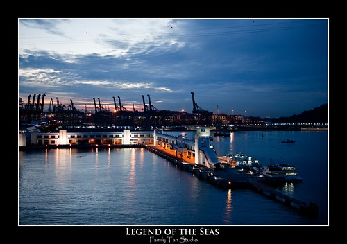 Early morning of Singapore and Keppel Habour in the background by Dad Bear