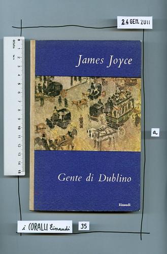 James Joyce, Gente di Dublino, Einaudi 1949. I coralli 35. Copertina.