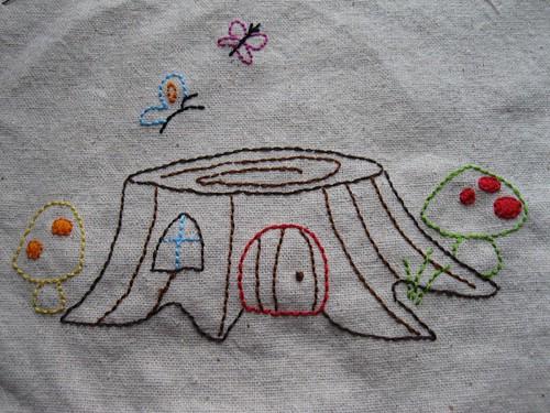 doodle stitch week 3: toadstools & stumps