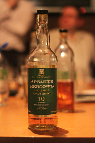 Speaker Bercow's Single Malt