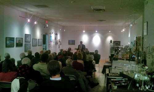 Andy Kosch presenting at City Lights Gallery in Bridgeport CT