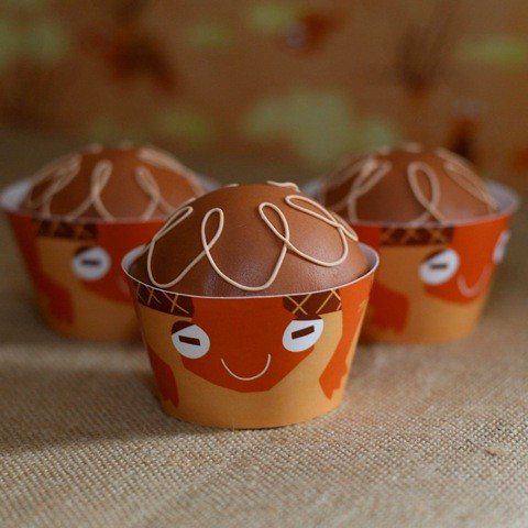 Turtle Cupcake Wrappers by Spaceships & Laser Beams