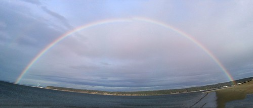 rainbow along indian island