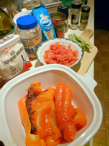 Roasted Red Pepper Risotto Ingredients