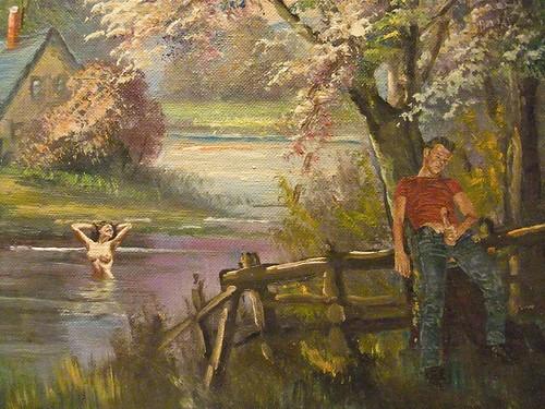 """Dan Colen: """"Self-portrait as the Wanderer"""""""