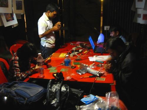 night soldering