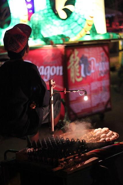Balot vendor in Bacolod