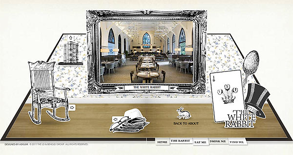 Interior of The White Rabbit, picture via their official website