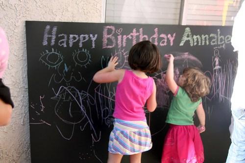 Annie's big chalkboard