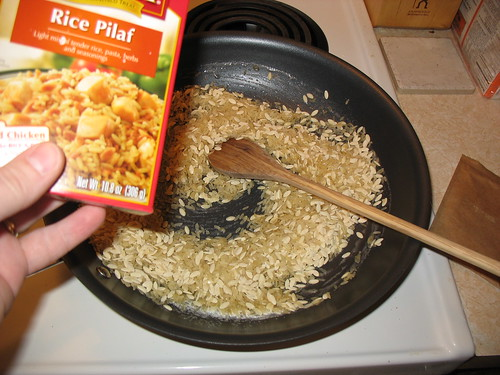 Get that rice browning!