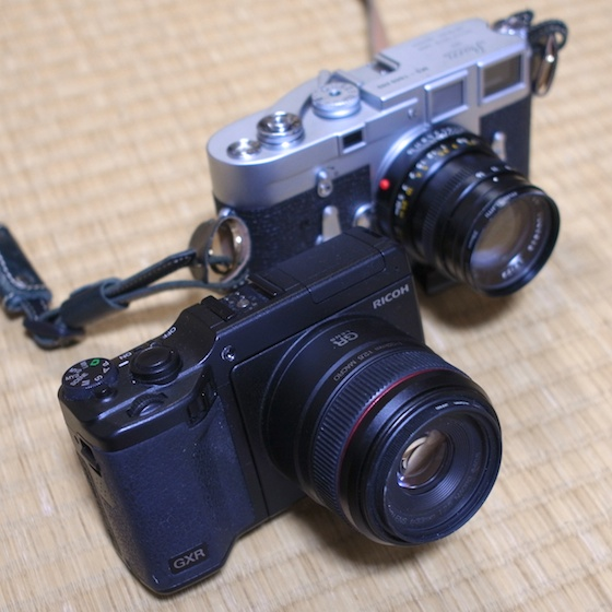 GXR+A12 and Leica M3+Summicron 50mm