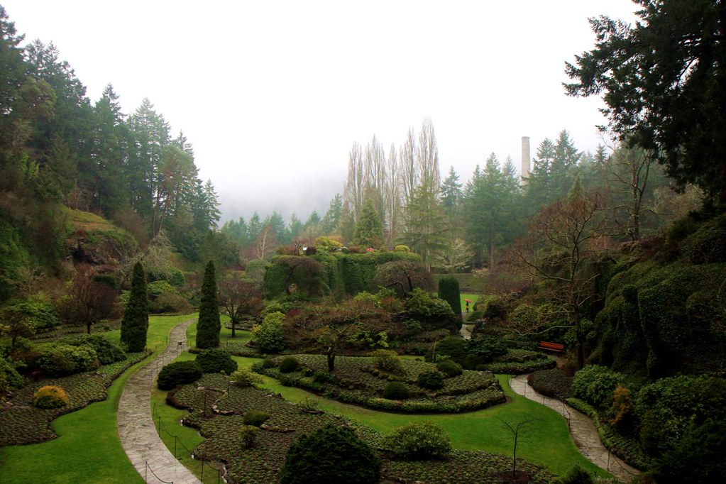 Sunken Garden  in the Butchart Gardens