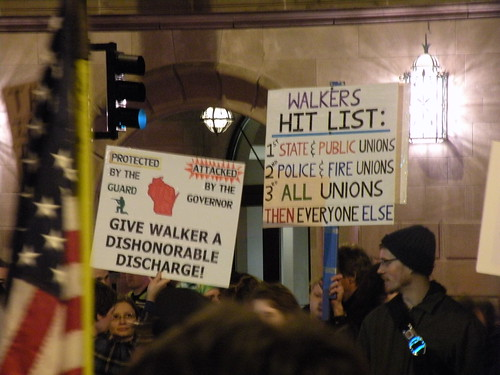 Photos from around the Madison protests against Gov. Scott Walker's attempt to bust unions.