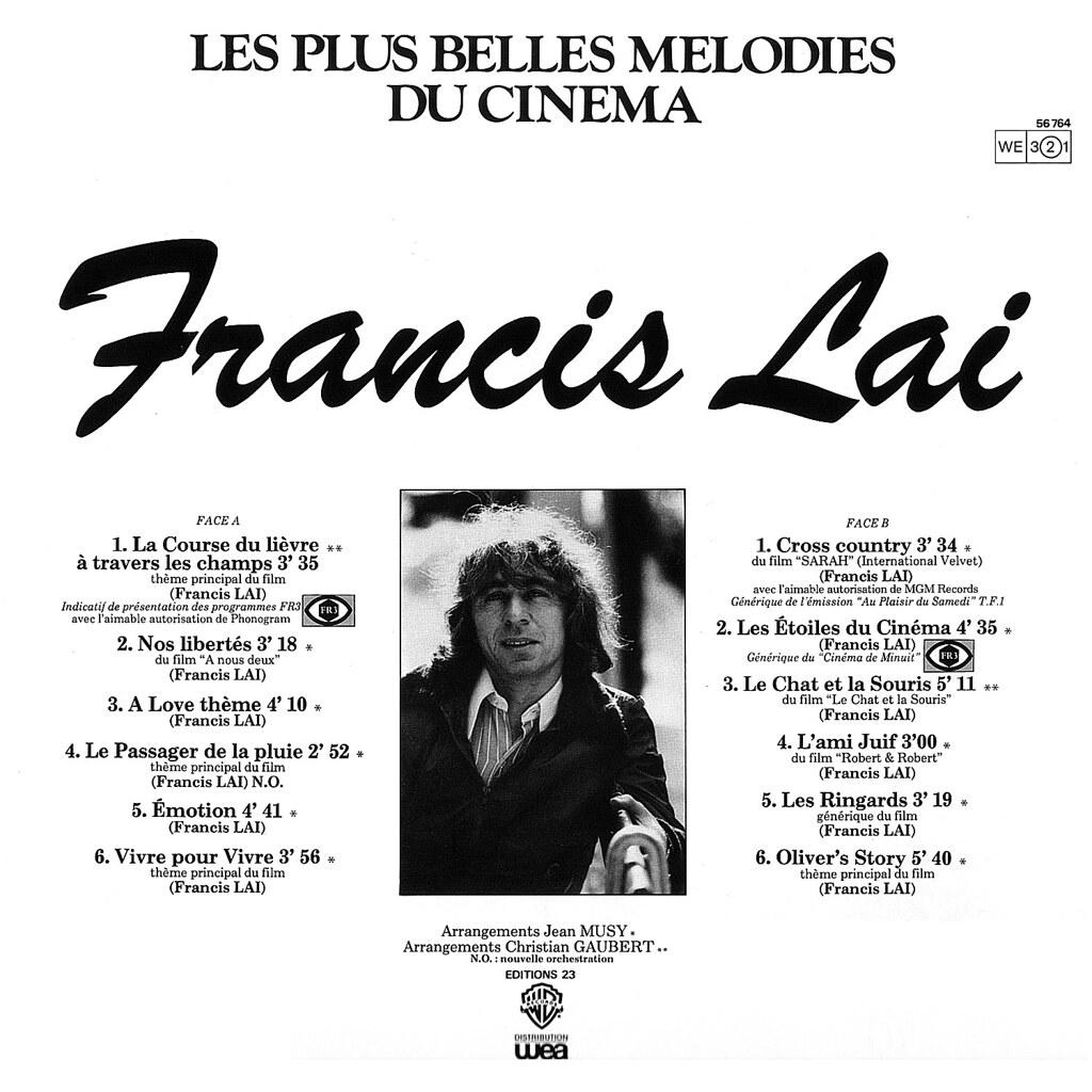 Francis Lai - Les plus belles mélodies du cinéma